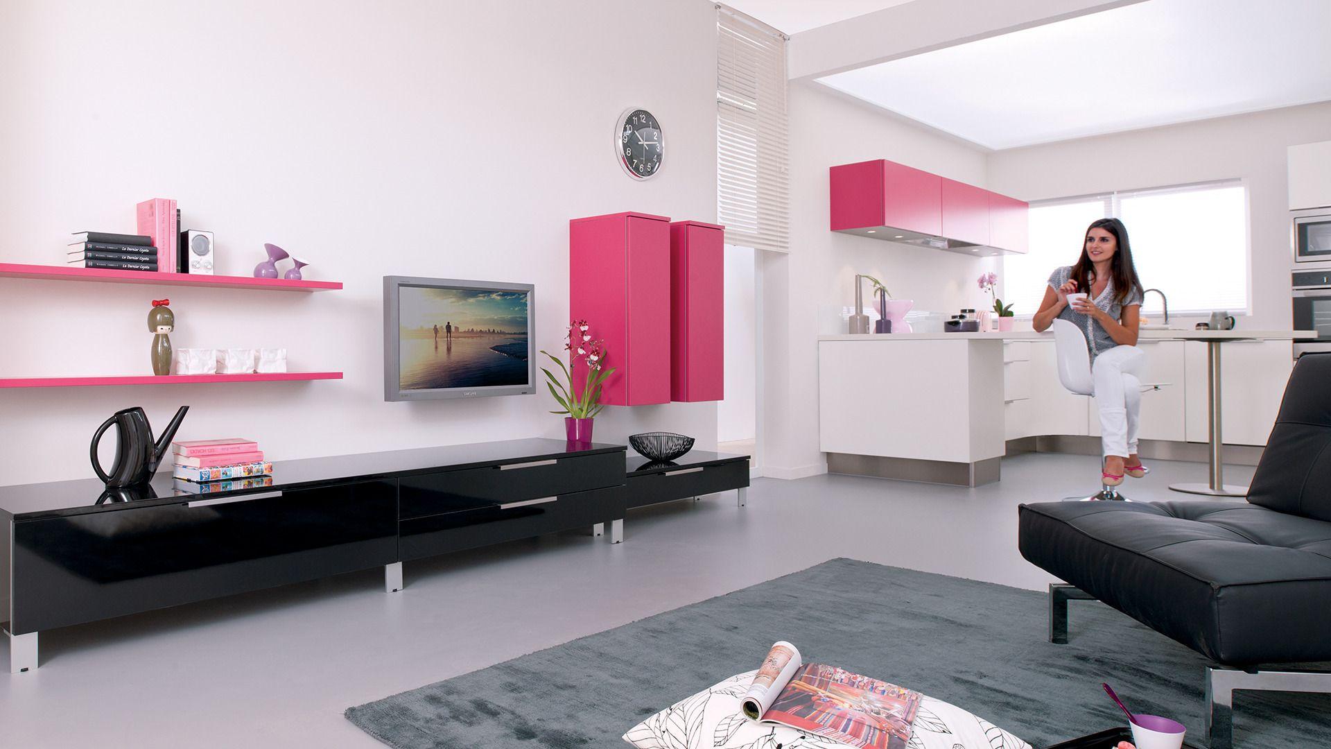 Dressing Salon Gamme Les Intemporels Cuisinella Rangements  # Meuble Tv Cuisinella