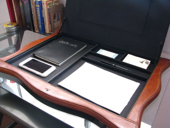 Vintage Leather Stetson Desk Pad Made in the by BlackberryMemories