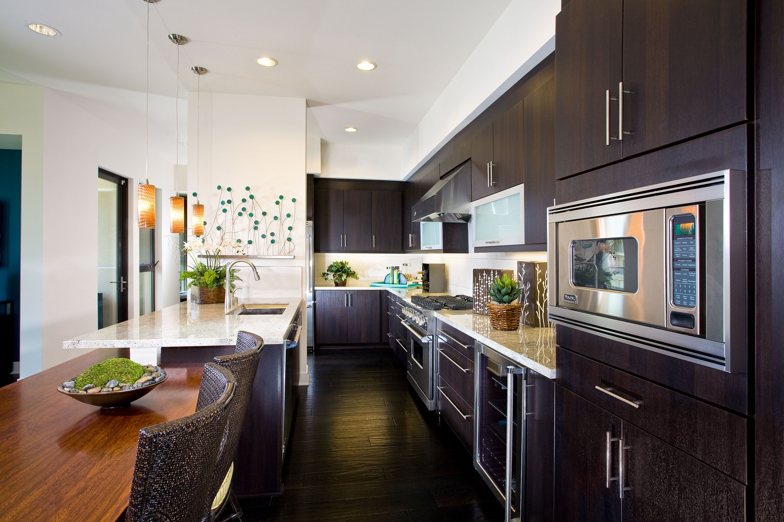 Frameless Cabinetry Lenox Thermofoil Wengi Finish Frameless Cabinetry Kitchen Cabinet Design Kitchen Design