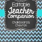 This teacher binder is an editable organizing binder with a chevron and chalkboard theme. There are 111 pages in this pack to help organize you for...