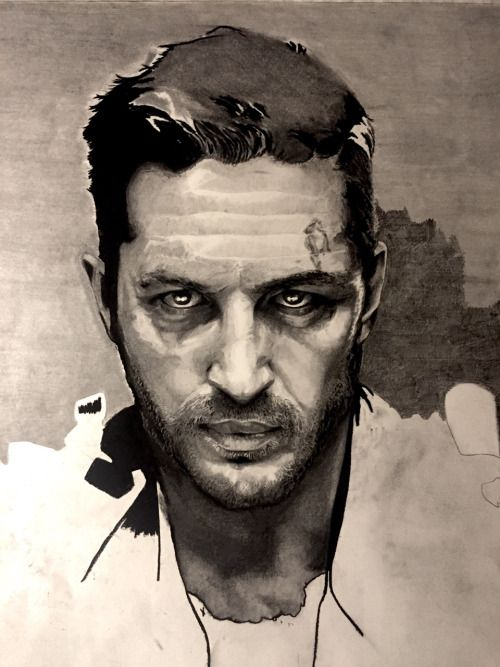 Drawing of Tom Hardy as Mad Max Pencil Sketch Portrait Fan Art Artwork Movie