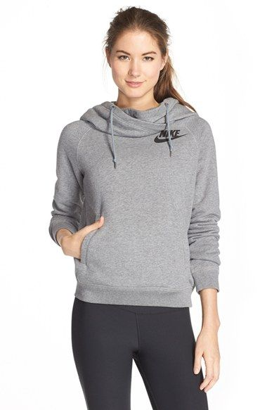Free shipping and returns on Nike  Rally  Funnel Neck Hoodie at Nordstrom.com.  Wear your loyalty out loud in a cozy b3063837d77b