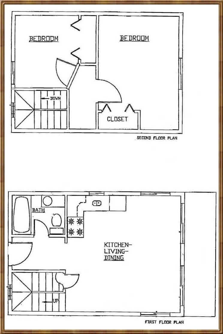 16x24 house plans google search small house plans for Simple cabin plans 24 by 24