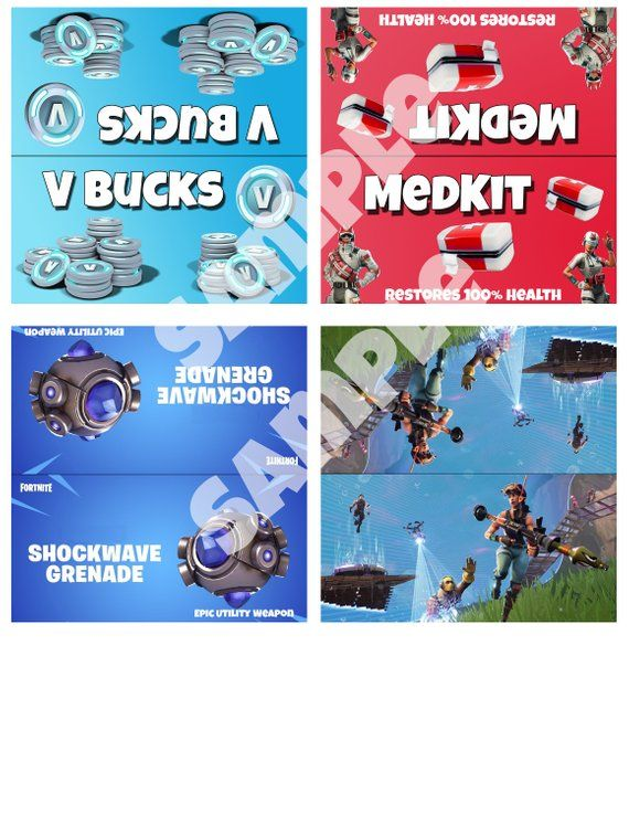picture regarding Printable Fortnite named Printable Fortnite Themed Handle Bag Toppers, fantastic for