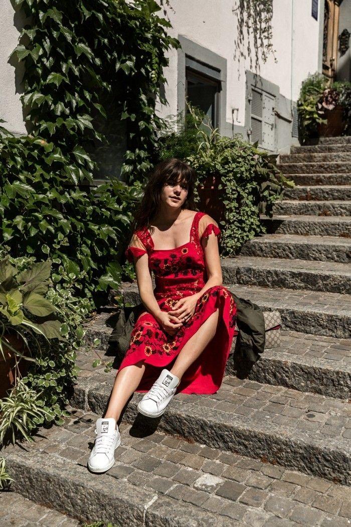 1001+ Ideen für rotes Kleid - welche Schuhe zu wählen ...