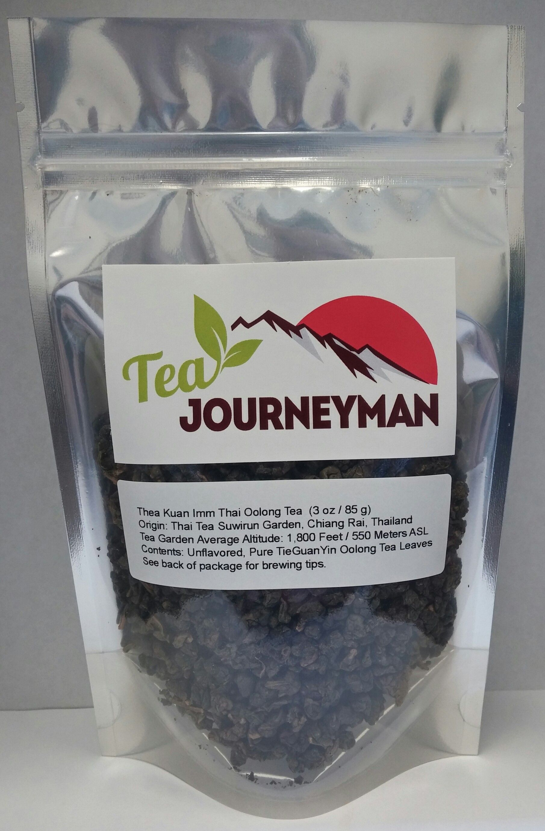 Thea Kuan Imm Thai Oolong Tea in Three Ounce Packet. Now available for purchase at http://www.teajourneymanshop.com!