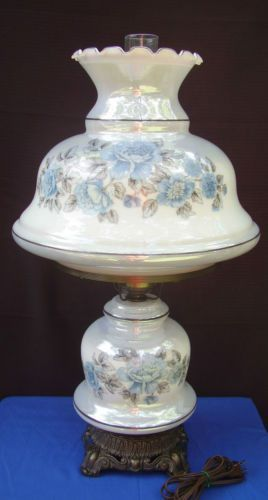 Good Vintage Hurricane Lamps Glass | Vintage Electric Hurricane Glass Table Lamp  $159.99
