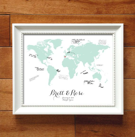 Destination wedding map guestbook alternative print fully destination wedding map guestbook alternative print fully personalized world map wedding guest book alternative gumiabroncs Image collections