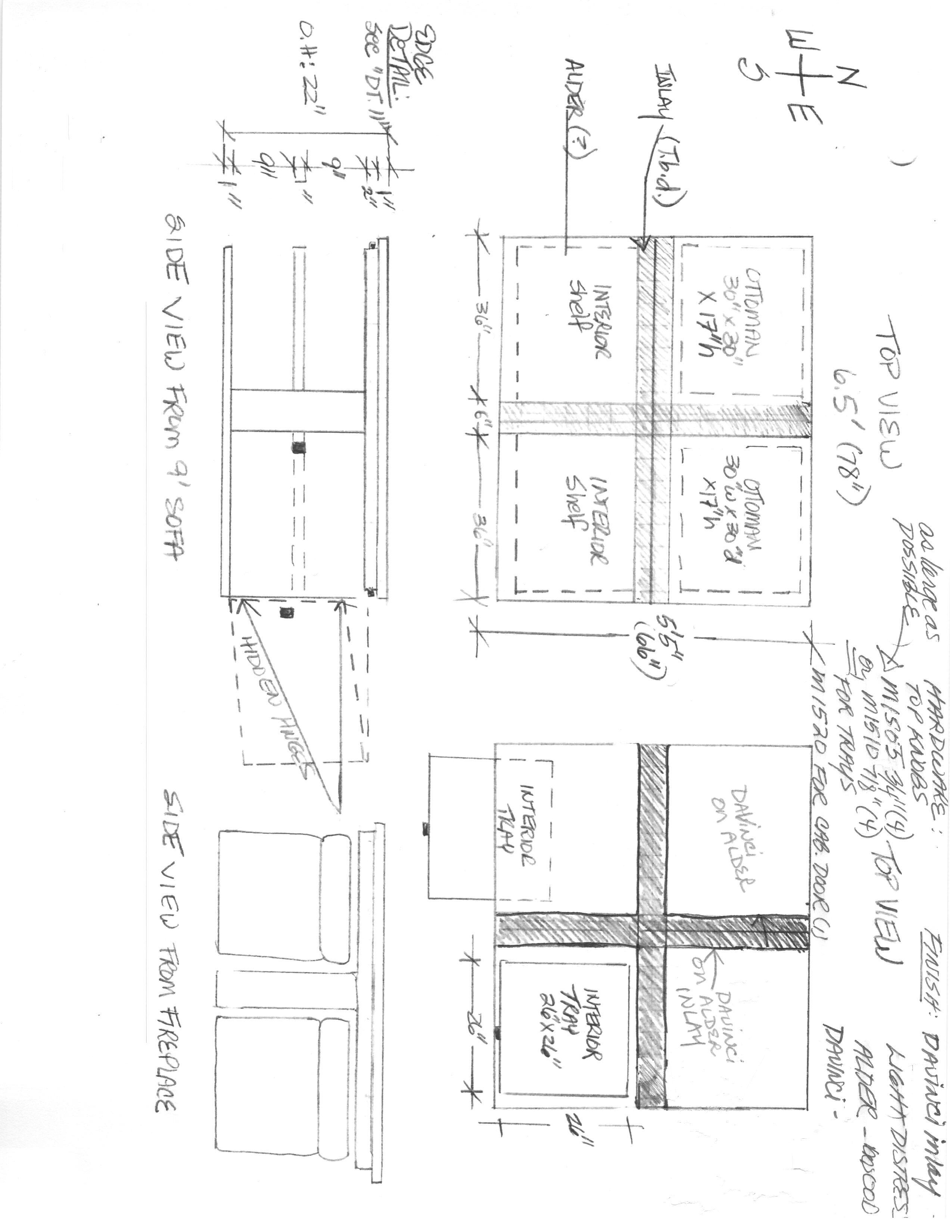custom coffee table drawing grant