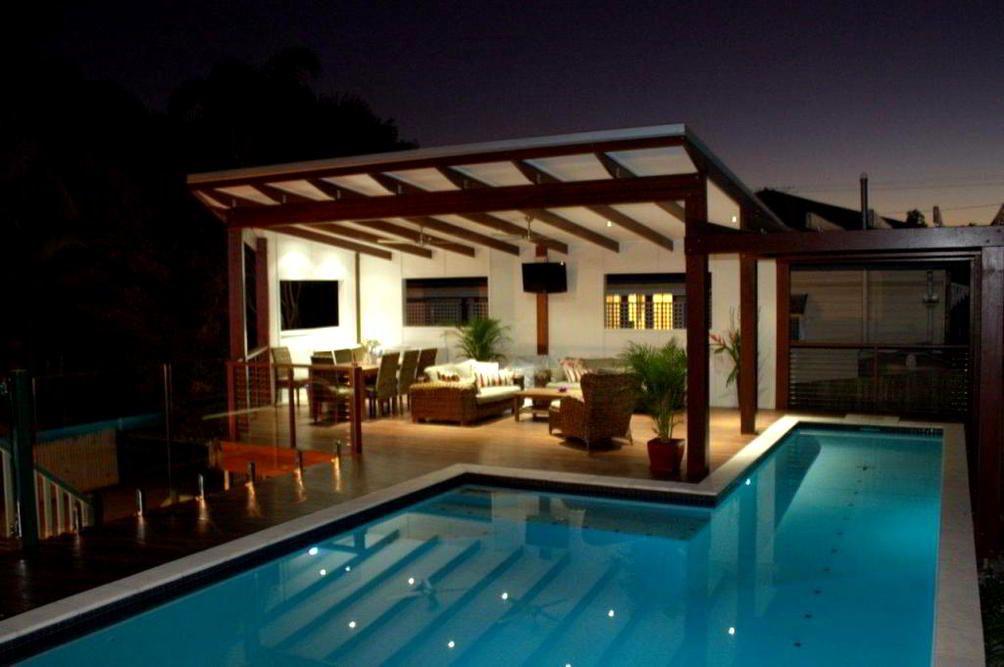 Amazing Modern Gazebo Design In Side Of Pool Image In 2019