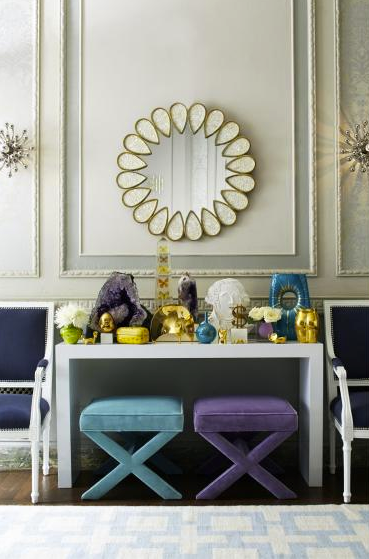 Take inspiration from Jonathan Adler and create a fascinating design space by layering crystals, vases and unusual décor in your home. #FieldNotes #JonathanAdler #design #interiors #homewares