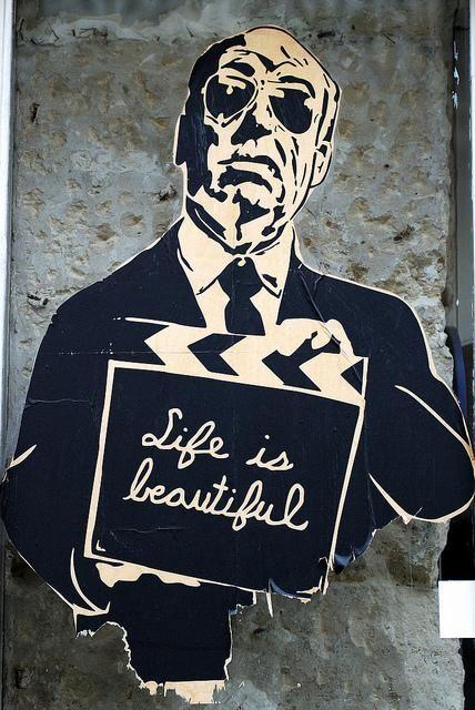 Graffiti Artwork Alfred Hickok Life Is Beautiful