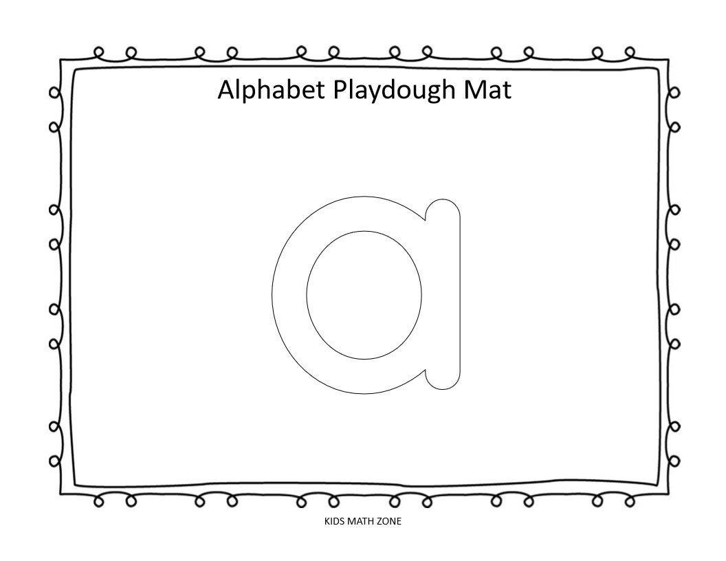 Alphabet 26 Printable Lowercase Playdough Mats Worksheets