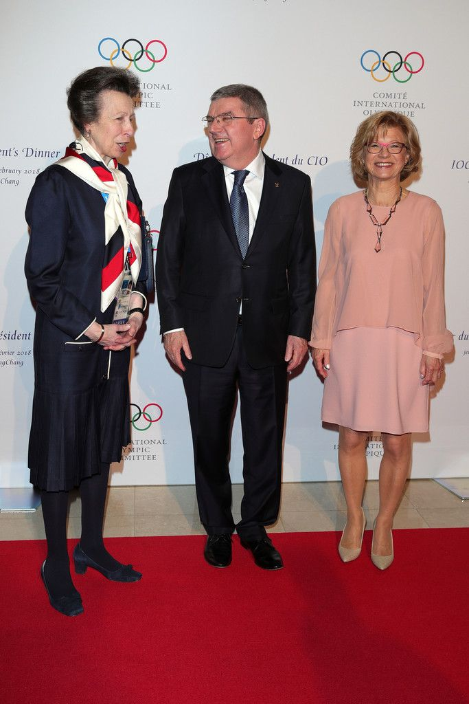 Princess Anne Photos - Princess Anne, Princess Royal, IOC President Thomas Bach and Claudia Bach attend the IOC President's Dinner ahead of the PyeongChang 2018 Winter Olympic Games on February 8, 2018 in Pyeongchang-gun, South Korea. - Previews - Winter Olympics Day -1