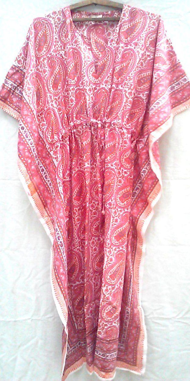 Indian Handmade Printed Kaftan One Size