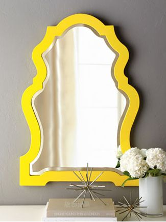 Favorite Finds: 10 Sleek and Chic Mirrors | Pinterest | Yellow ...
