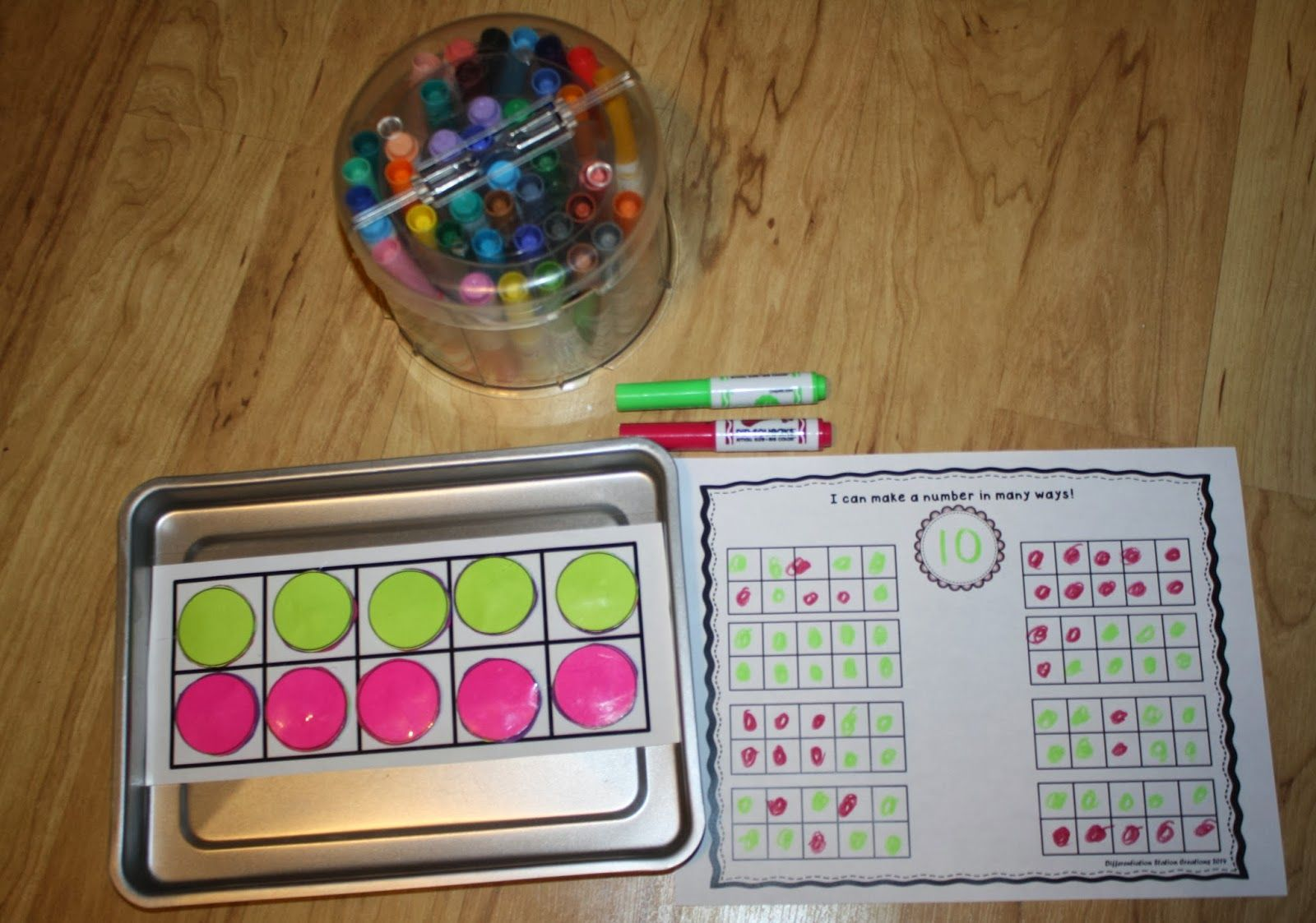Free! Template to make your own magnetic ten frame plus printables ...