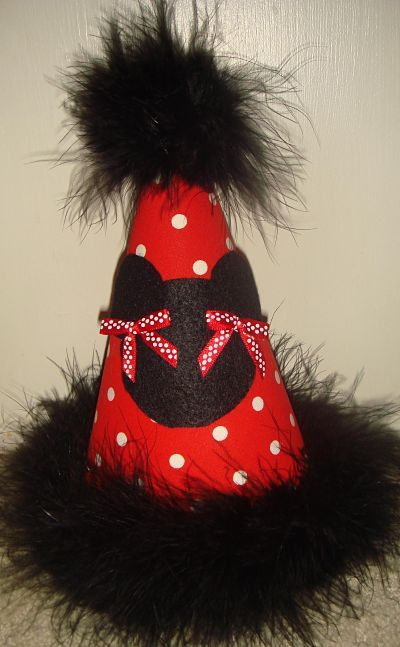 dffec47c01cd1 Minnie Mouse Birthday Party Hat Favors Supplies Custom Birthday Girl...1st Birthday  Party