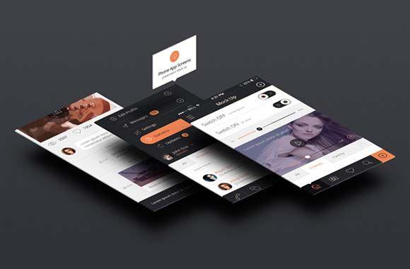 Perspective App Screen Mockups App Interface Design Mockup Free Psd App Interface