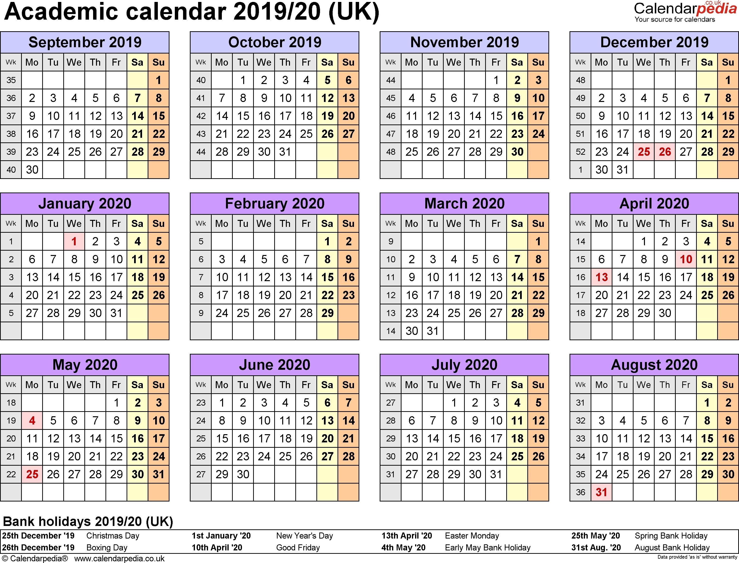 Calendar For 2019 With Bank Holidays National Calendar November