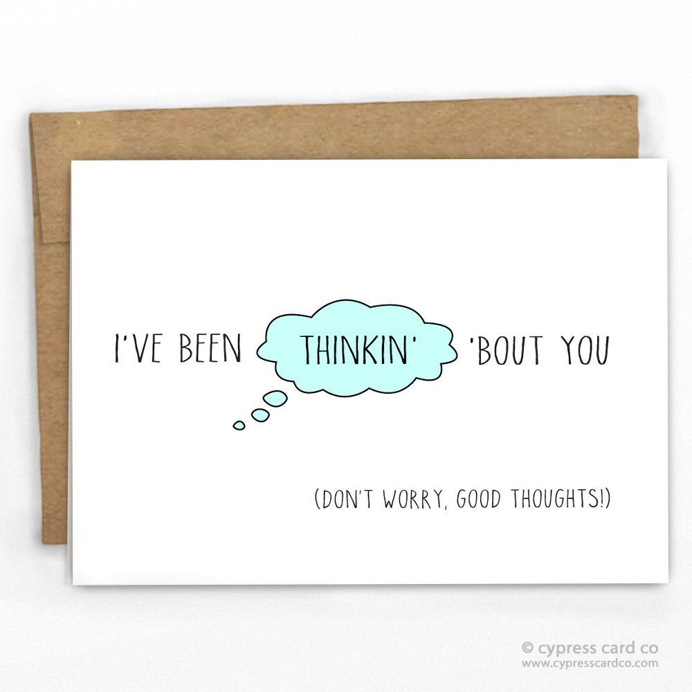 Thinking Of You Card Cards Kraft Envelopes And Card Stock