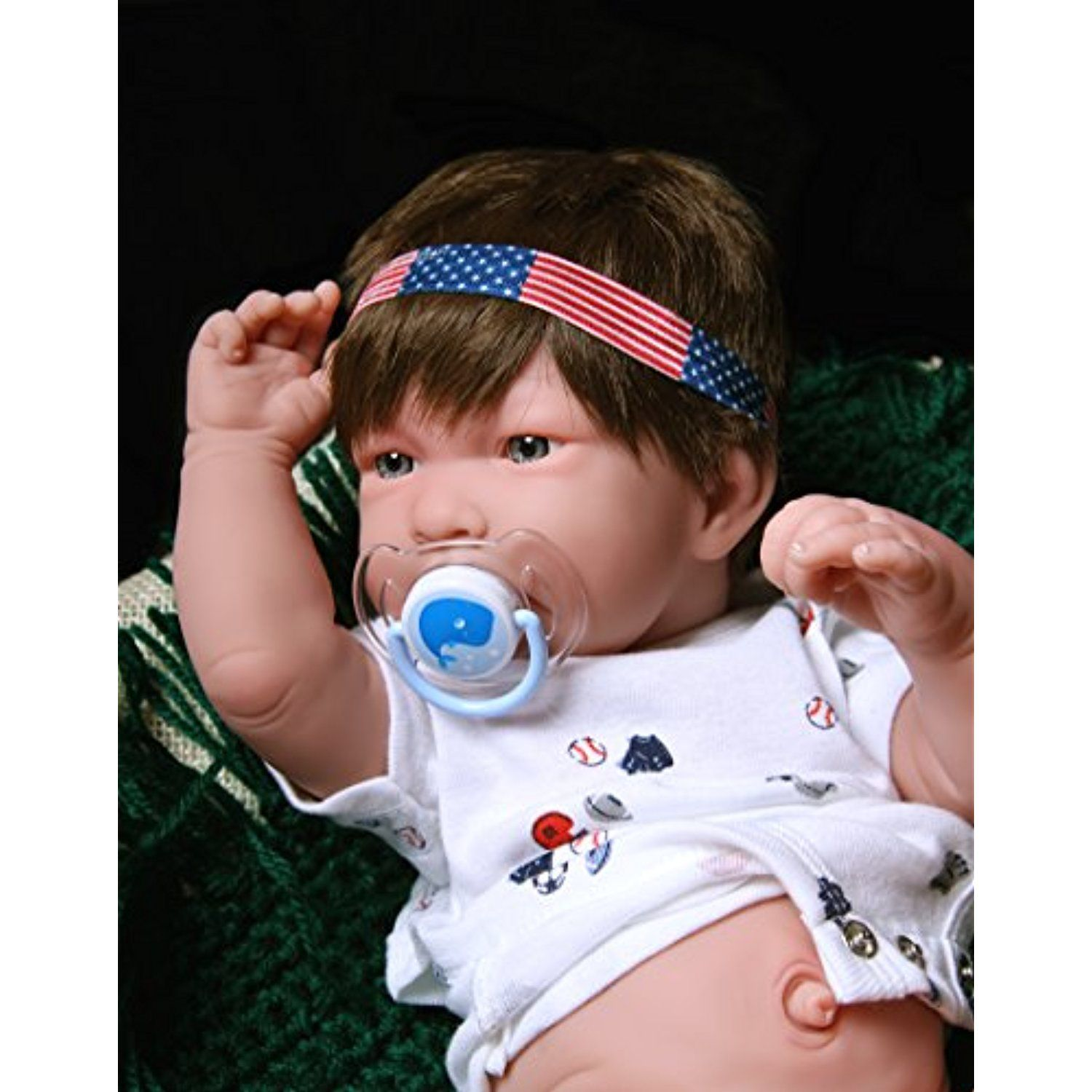 """Baby Reborn Doll Berenguer Realistic 17/"""" inch Real Vinyl Life Like anatomically"""