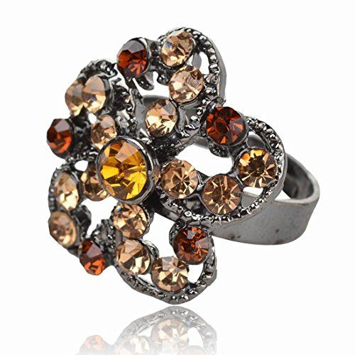 Hematite Brown Flower CZ Rhinestone Adjustable Finger Cocktail Ring Jewelry Thboxes http://www.amazon.com/dp/B00MCJSYLO/ref=cm_sw_r_pi_dp_ll8bub069PCHM