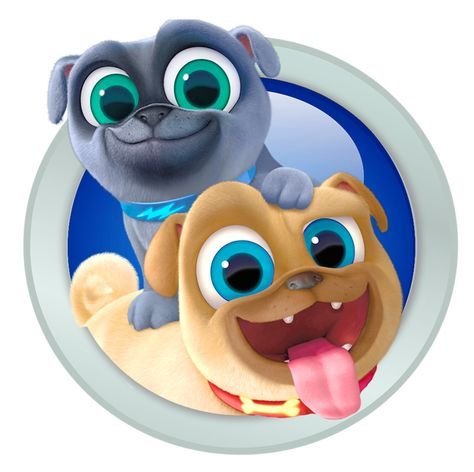 3 75 Puppy Dog Pals Bingo And Rolly Iron On Transfer 5 X5 For