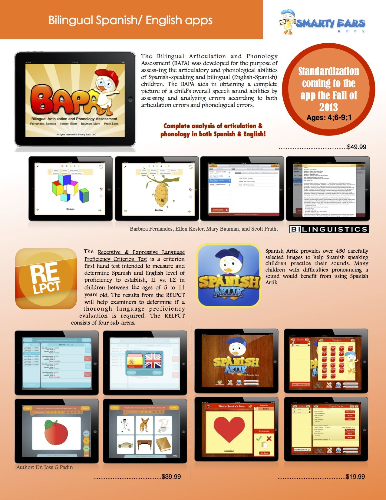 Check out Smarty Ears bilingual apps apps spanish