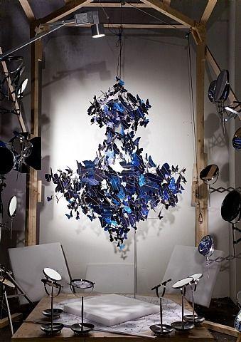 Dutch Artist Jeroen Verhoevenu0027s U0027Virtue Of Blueu0027 Boasts 500 Solar Panels  Cut Into The Idea