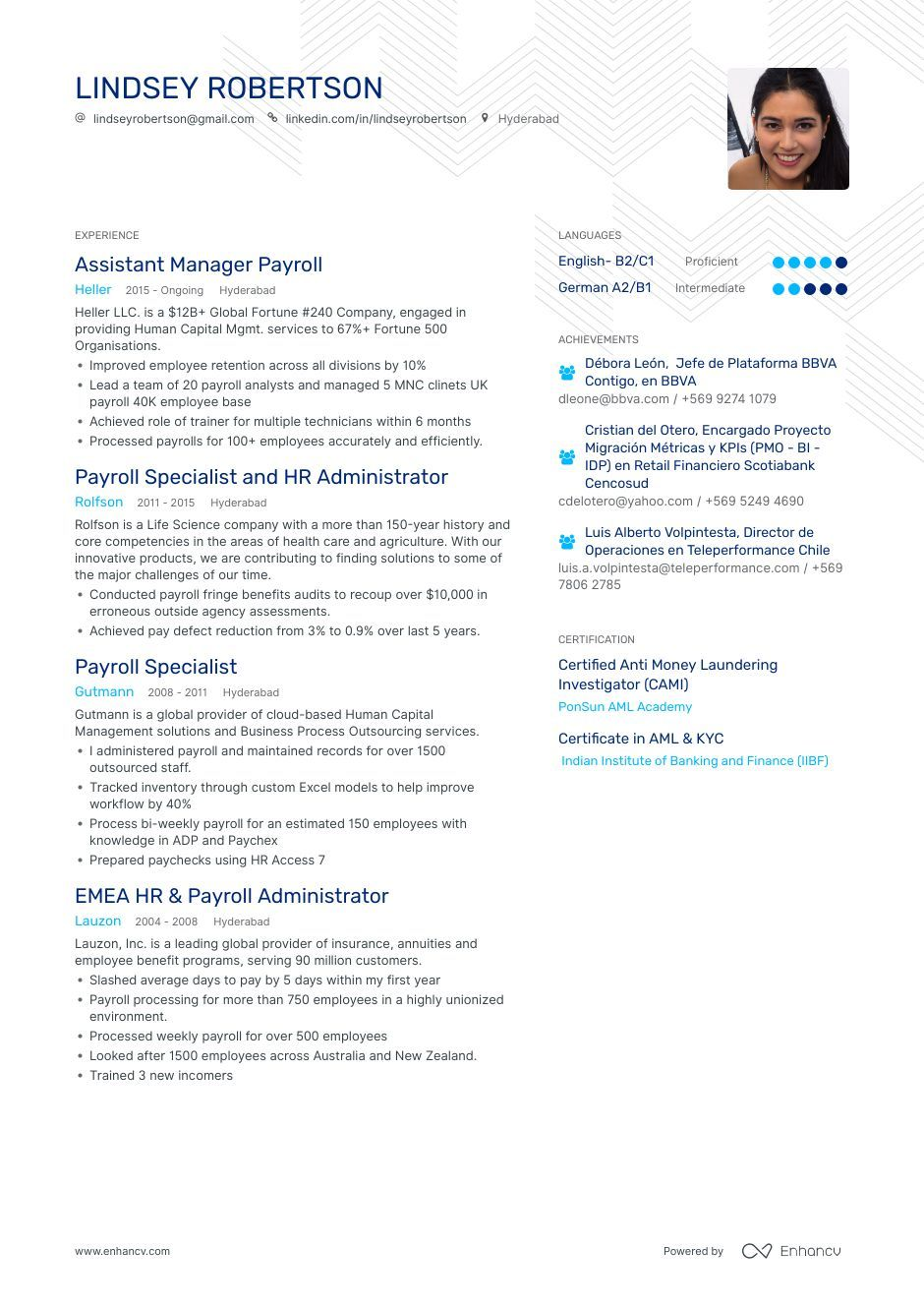 Payroll Resume Example And Guide For 2019 Resume Examples Payroll Resume