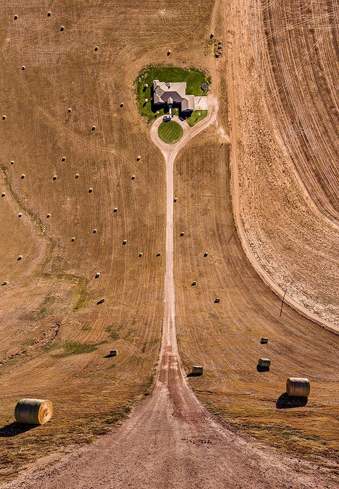 Warped Landscape View Made Using A Drone Photoshop Art - Photographer combines photoshops his own photos to create surreal landscapes