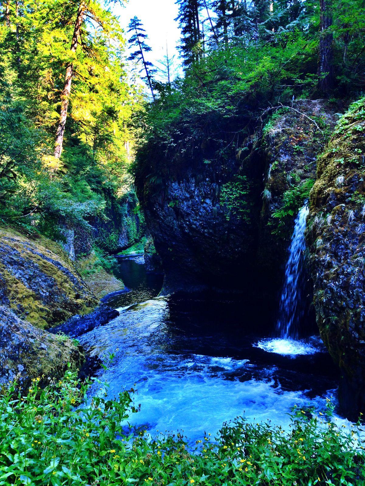 Hidden waterfall in portland or waterfall outdoor