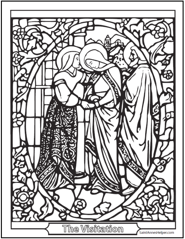 Confirmation Stained Glass Image To Colour