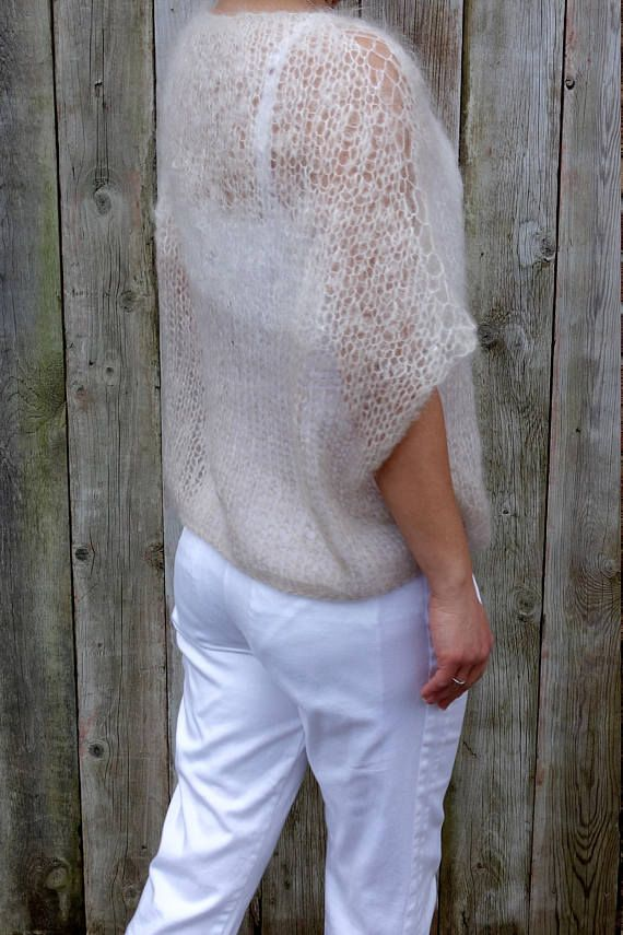 Sweater Knitting Pattern Latte Sweater Loose Knit Mohair Top Two