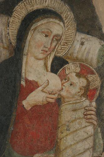 Santuario Eremo di Greccio. Madonna lactans.