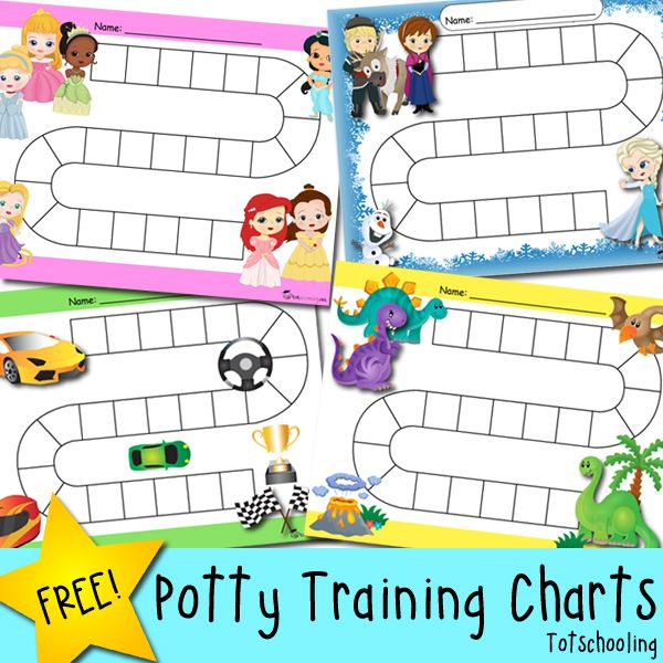 Printable Potty Training Chart: Free Potty Training Progress & Reward Charts