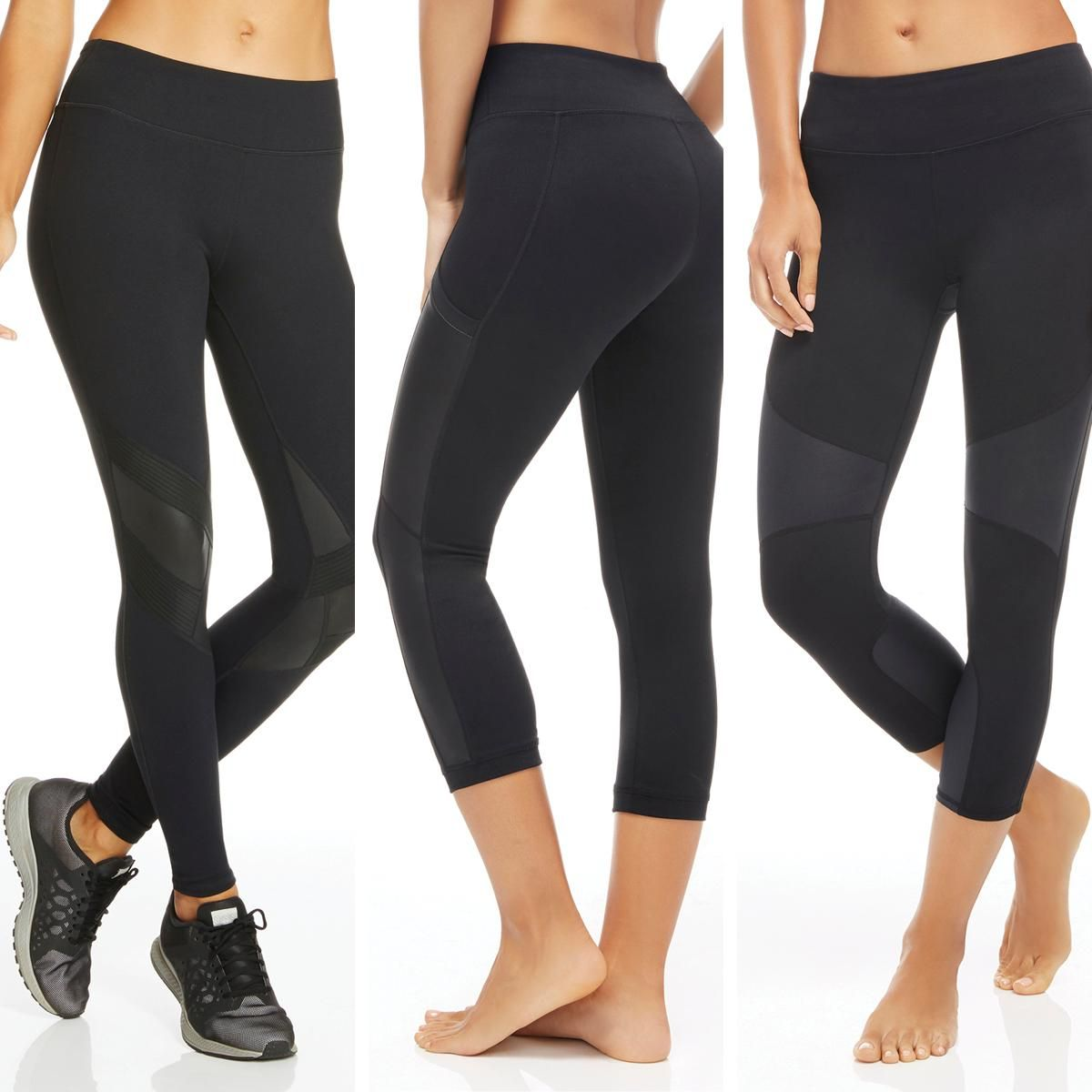 High fashion paneled workout leggings for the gym or a night out.