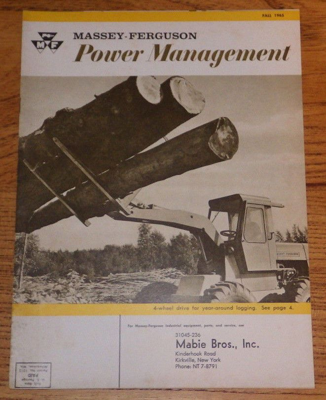 Fall 1965 Massey Ferguson Power Management MF152 MF204 MF302 Tractor MF470  #MasseyFerguson