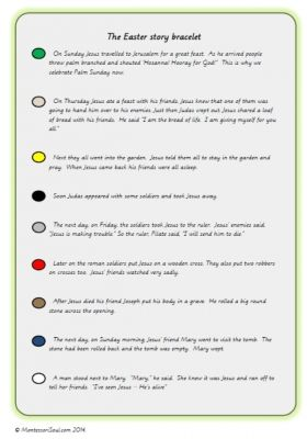 Free Printable Of The Easter Story To Create A Bracelet