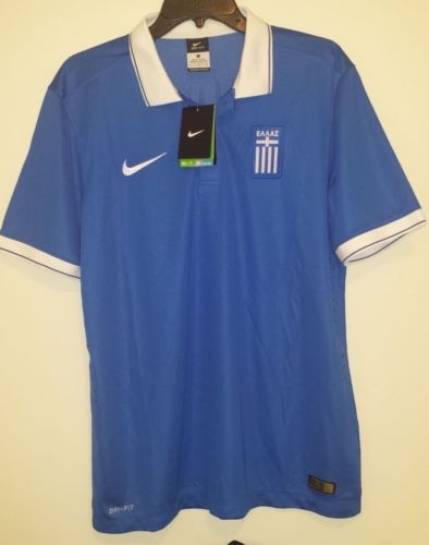 best website f54ac 6cc4b Nike-Greece-National-Team-Soccer-Football-Jersey-Shirt-Mens ...