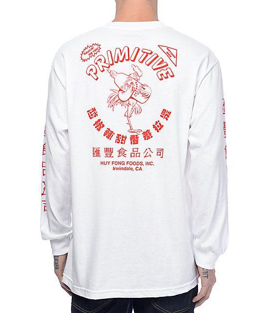 25c8f8002 Primitive X Huy Fong White Long Sleeve T-Shirt | Zumiez White Tee Shirts,