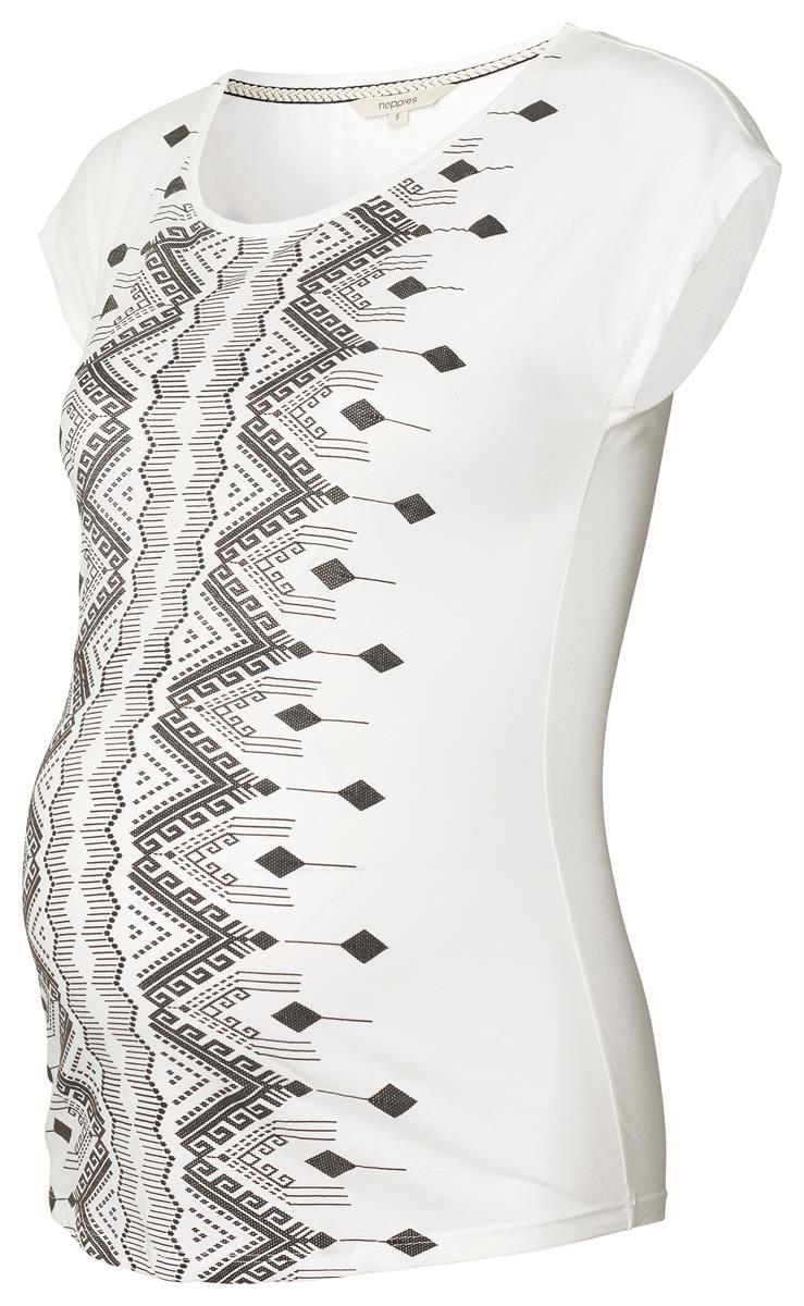 Het zwangerschaps t-shirt Marcy van Noppies heeft een stijlvolle print, ronde hals en korte mouwen. Dankzij de elastische stof is er voldoende ruimte voor de groei van je kindje en zit het t-shirt perfect van maand één tot en met negen.