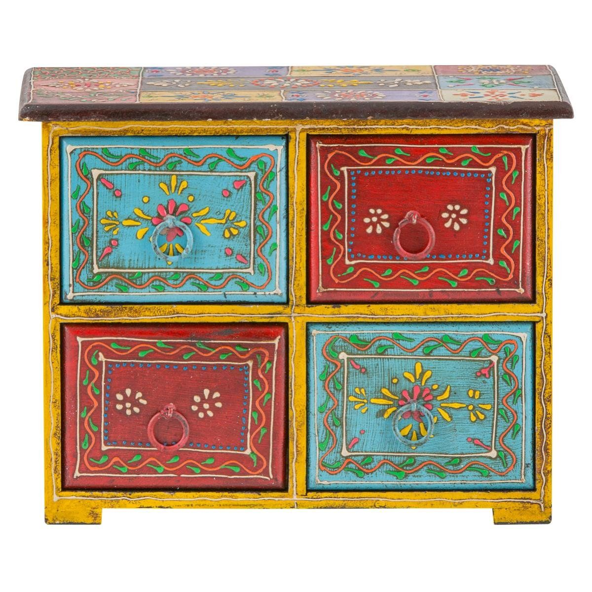 buy popular 8549b d9d99 Indian Painted 4 Drawer Chest: Amazon.co.uk: Beauty | DIY ...