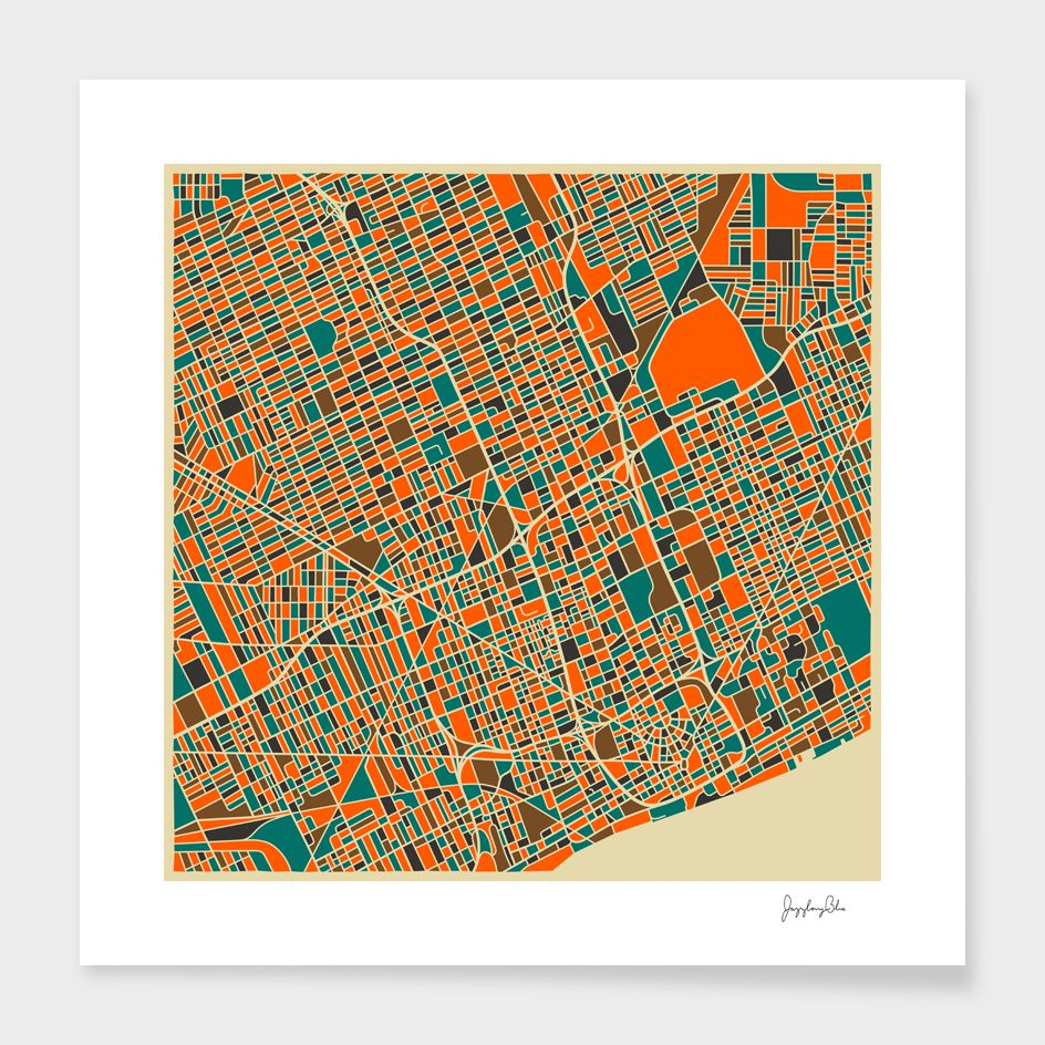 «Detroit» Art Print by Jazzberry Blue Numbered Edition
