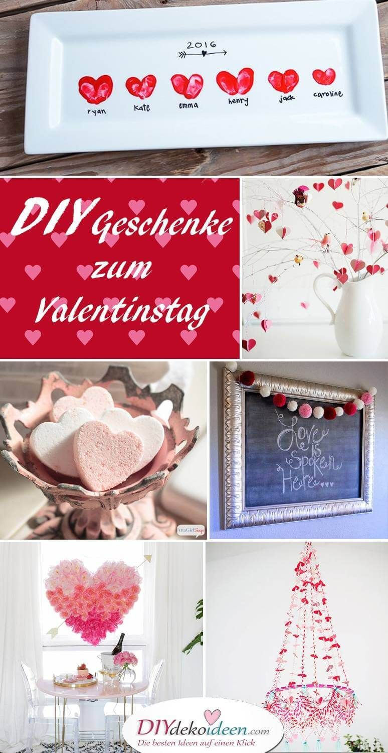 s e und einfache diy geschenke selber machen zum valentinstag diy bastelideen pinterest. Black Bedroom Furniture Sets. Home Design Ideas