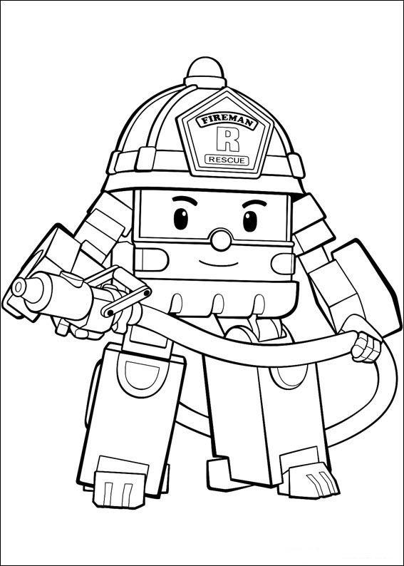Dibujos para Colorear Robocar Poly 18   Dibujos para colorear para ...