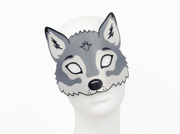 Wolf-Maske zum Ausdrucken | Basteln | Wolf mask, Wolf und ...