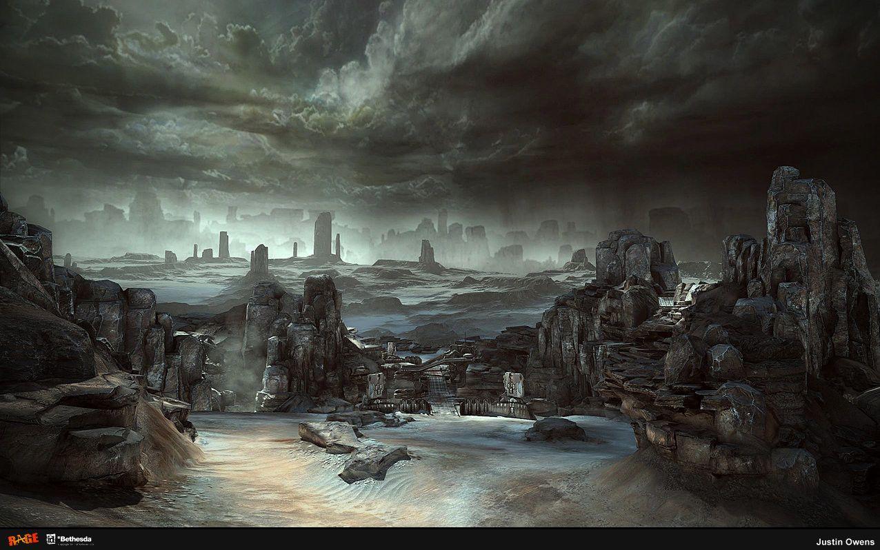 Illusion Vs Reality In Sky Over Owen >> Artstation Rage Wasteland 2 Justin Owens Level Art