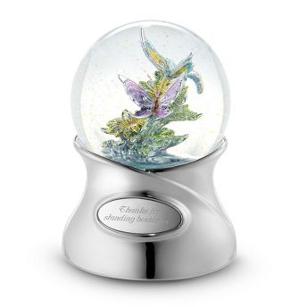 Personalized Shimmering Brilliance Butterfly Musical Water Globe , Add Your Message  CB gift